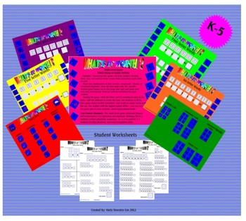 What's It Worth Alphabet Numerical Dice Game Grades K - 5 Smartboard Lesson