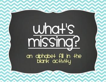 What's Missing? Alphabet Activities