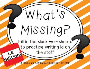What's Missing?: Fill in the Blank Worksheets to Practice Writing La