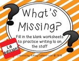 What's Missing?: Fill in the Blank Worksheets to Practice