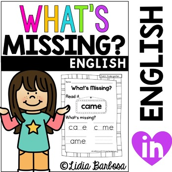 What's Missing? Kinder Sight Words {dolch list}
