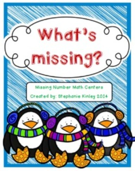 What's Missing Math Centers - {Winter Themed FREEBIE}