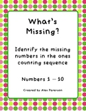 What's Missing Numbers 0-10
