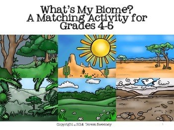 What's My Biome? Matching Activity