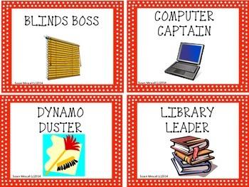 What's My Job?  Classroom Job Labels