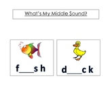 What's My Middle Sound? Phonemic Awareness Activity