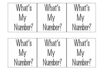 What's My Number?