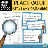 Place Value Mystery Number Task Cards: Tens and Ones 2-Digit Numbers