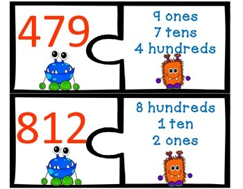 What's My Number? 30 Place Value Puzzles Differentiated Activities