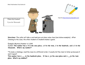 What's My Number? Place Value Game