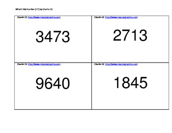 What's My Number II - Place Value Game up to Hundred Thousands!