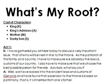 What's My Root? (Set 4)  Exploring Greek/Latin Roots (Aligned w/ NWEA MAP test)