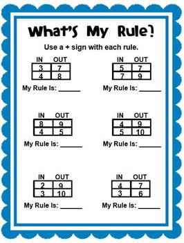 What's My Rule?