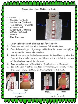 what 39 s my rule robot activities for math in and out boxes by teacher gems. Black Bedroom Furniture Sets. Home Design Ideas