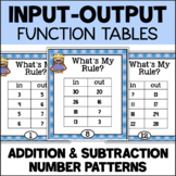 Function Tables - Addition and Subtraction Input/Output