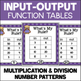 Function Tables - Multiplication and Division Input/Output Tables