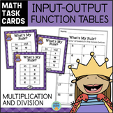Function Tables - Multiplication and Division Input Output Tables