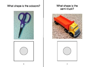 What's My SHAPE? Adapted Velcro BOOK, Speech Therapy, Autism, Early Childhood