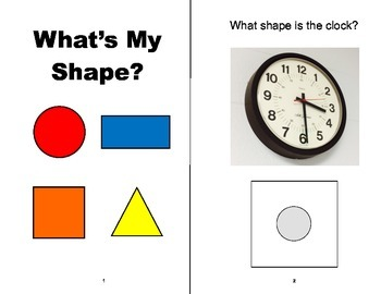 What's My SHAPE? Adapted Velcro BOOK, Speech Therapy, Auti