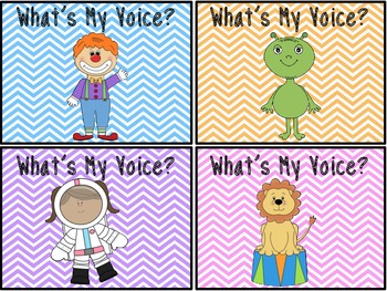 What's My Voice? Character Task Card Project