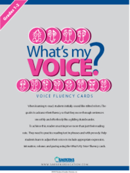 What's My Voice? Fluency Cards: Grades 1-2