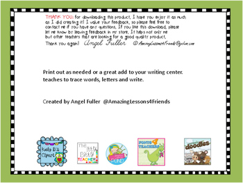 Write and Trace Letters and Words Worksheets
