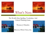 What's Next: The Spelling And Vocabulary Game Teaching Video
