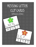 What's Next?  Uppercase letter clothespin clip center