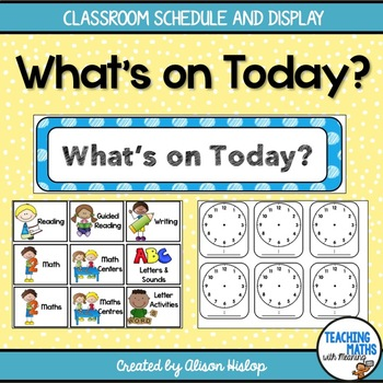 Daily Classroom Schedule and Display