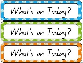 What's On Today? Classroom Display and Daily Schedule Australian Fonts