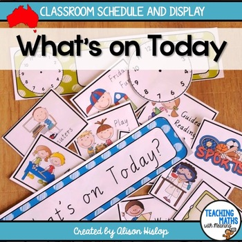 Daily Classroom Schedule with Australian Fonts
