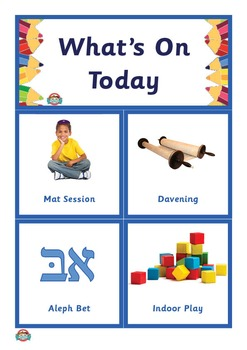 What's On Today? (Jewish Studies) Kinder Schedule and Routine Display