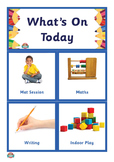What's On Today? Kinder Schedule and Routine Display