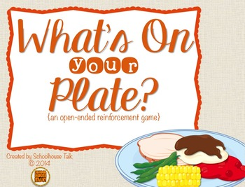 What's On Your Plate? {open-ended reinforcement game}