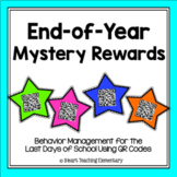 End of Year Mystery Rewards- Behavior Management for the Last Days of School