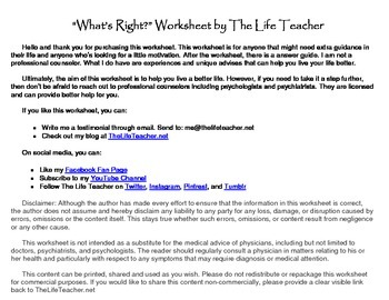 What's Right Worksheet