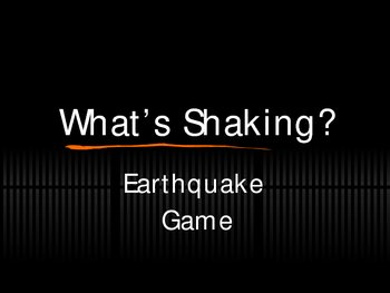 What's Shaking - An Earthquake/Volcano Game