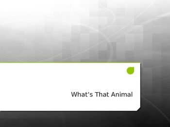 What's That Animal