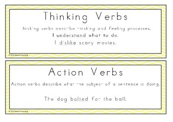 What's That Verb? A Verb Sorting Activity
