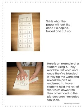 Read and Reveal - CVC Word Blending Practice