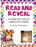 Read and Reveal CVC Word Blending Practice {Freebie}