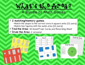 What's The Area?  A Bundle of Math Games