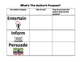 What's The Author's Purpose? Center