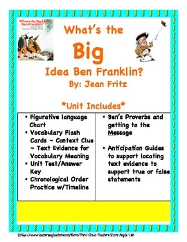 What's The Big Idea Ben Franklin? Core Aligned Close Reading Guide