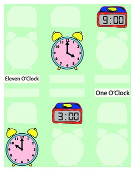 What's The Hour File Folder Activity