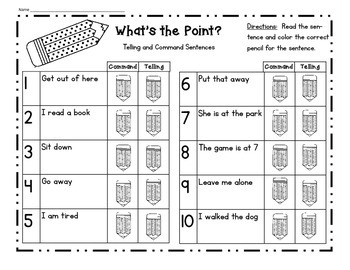What's The Point?  Telling and Command Sentences