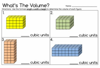 What's The Volume? - 5.MD.4