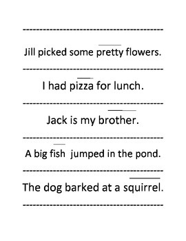 What's The Word? Reading Strategies Sentence Strips Activity