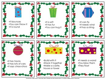 What's Under the Christmas Tree?  An Inferencing Activity