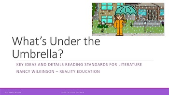 What's Under the Umbrella? -  Companion Slide Show